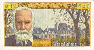 5 Nouveaux Francs VICTOR HUGO FRANCE 1960