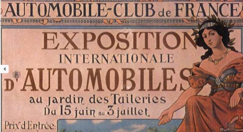 AUTOMOBILE- CLUB-DE- FRANCE -Affiche-l`histoire -du- salon