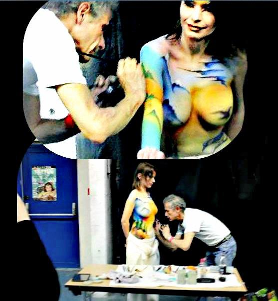 Body_ Painting Michel Lager_convention _tatouage -de_ lyon