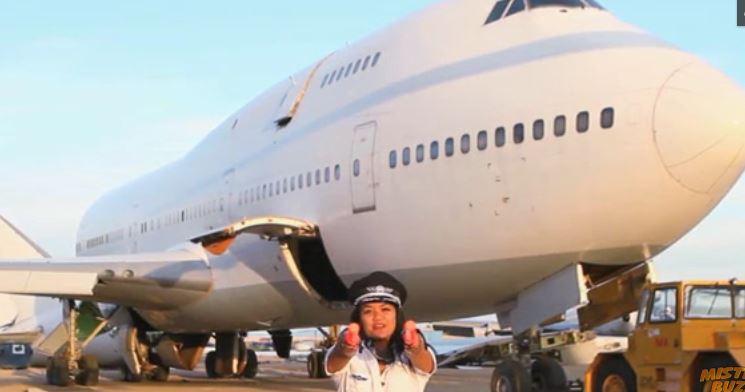 Boeing- 747 Jumbo- en -boite -de -nuit pour- le -Festival Burning Man -2016