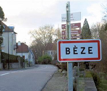Béze panneau de signalisation