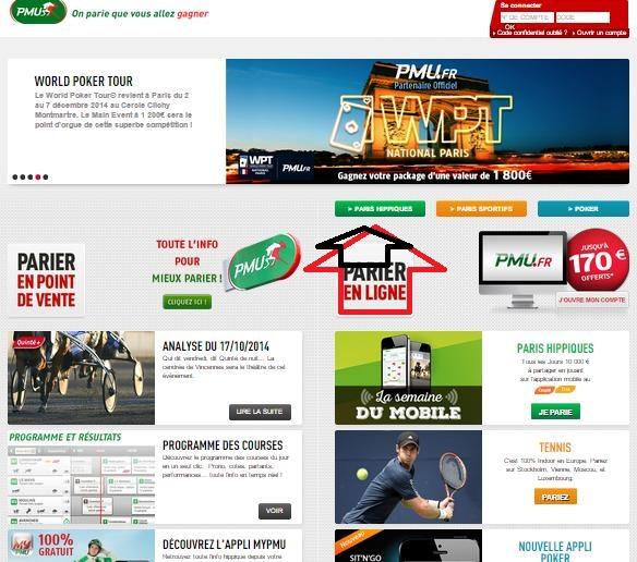 capture page PMU.FR