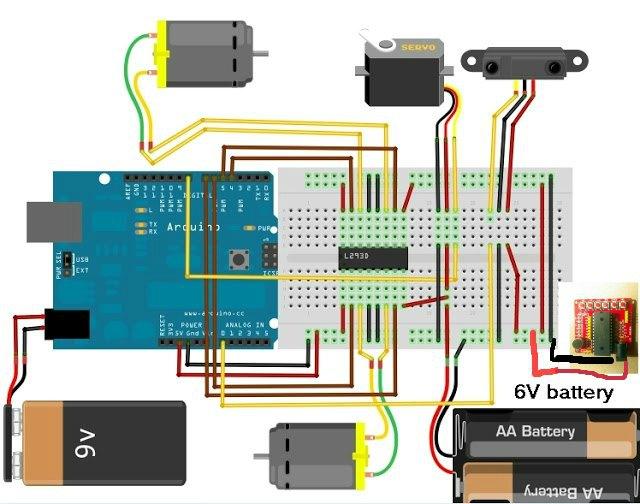 circuit- robot-carte-Arduino