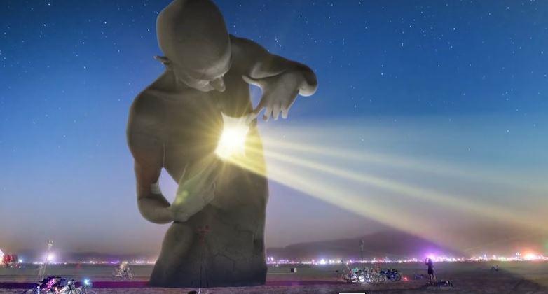 Construction-burning Man- sculpteur visionnaire Frank Somma 2016