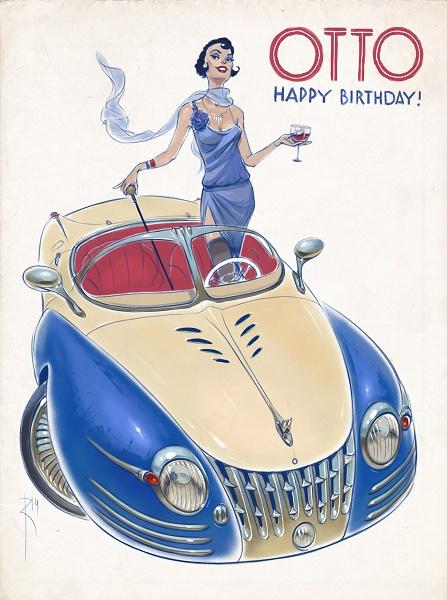 Dessin-les _voitures_ du _futur _des _années 50