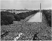 Foule à la marche sur Washington de 1963