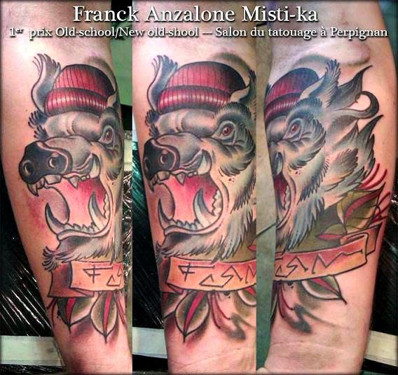 franck anzalone-premier prix du salon -de- tatouage- convention- PERPIGNIAN