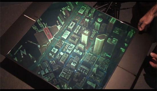 Carte holographique de Seattle, découvrez la ville en 3D