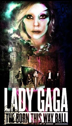 Lady Gaga- affiche-nouvelle- tournée -2012