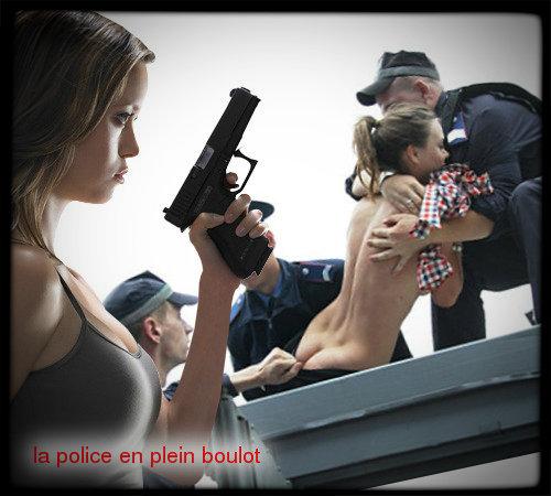la police en plein boulot
