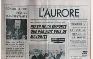 LE JOURNAL L`Aurore- relaxe de Patrice des Montis