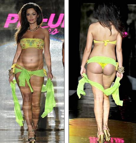 Le mod�le italien Raffaella enceinte � la pin-up star _mesfavorisites.com