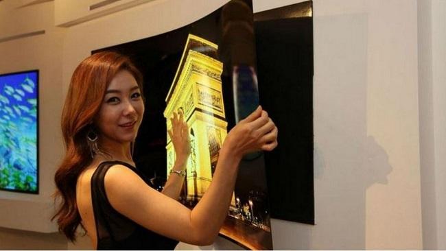 LG présente l`écran de télé aussi fin qu`une affiche