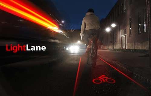 Un laser pour la sécurité des cyclistes