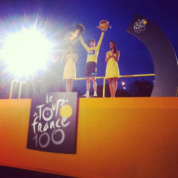 Maillot Jaune Chris Froome !