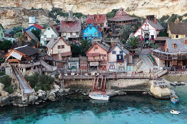 Malte- Eau -Bleue- Village -Nature- Film -Maisons