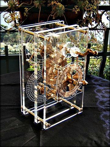 Modèle -reconstruit- de -la -machine- par- Mogi Vicentini_Mathématiques- de -la Grèce- antique
