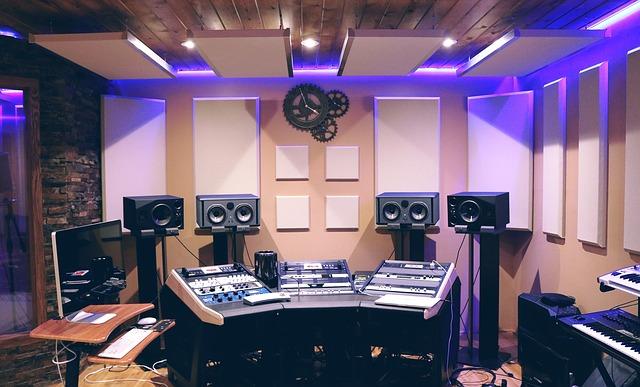 musique, studio, studio de musique, son, audio, enregistrement, équipement, studio d`enregistrement, technologie, mélange, mélangeur, dj,