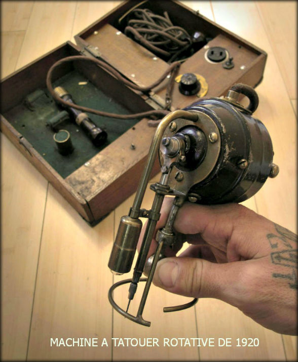 Old Rotary Tattoo machine 1920_de-la collection- Tim Hendricks)
