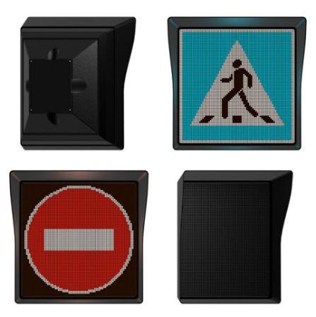 feux de circulation, panneaux de signalisation routière