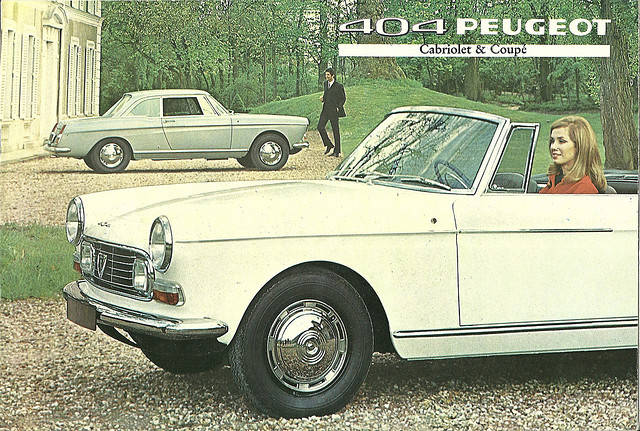 Peugeot 404 coupe and cabriolet