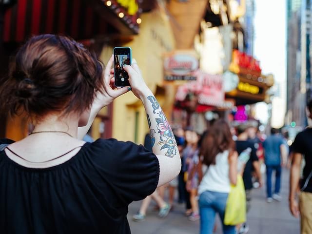 téléphone, appareil photo, photographier, selfie, mobile, personnes, personne, femme,