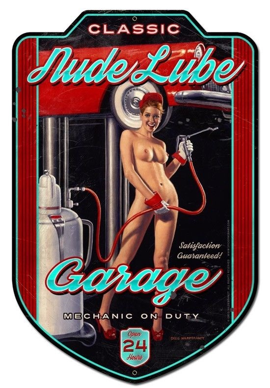 plaque-vintage-mécanique-garage-usa_sexy_pin-up