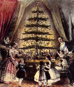 L' arbre de Noël fut introduit à Versailles