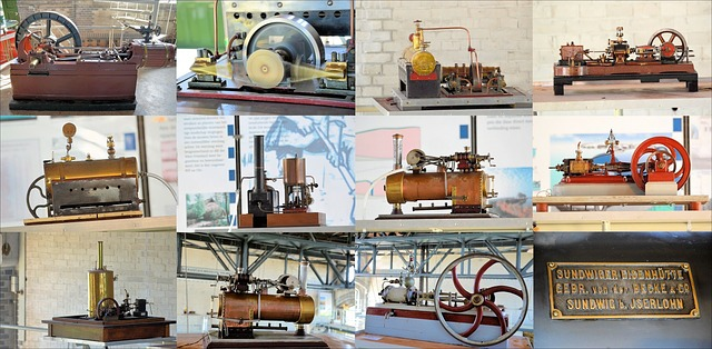 Machines - Vapeur- Miniature -Histoire- Industrie -Train-steampuck