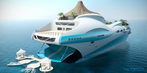 un yacht en forme d île tropicale flottante (2)